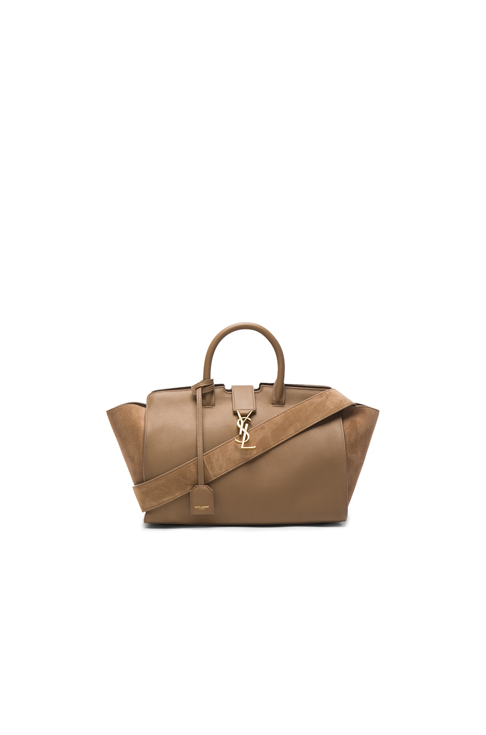 Image 1 of Saint Laurent Cabas Small Monogramme Bag in Taupe