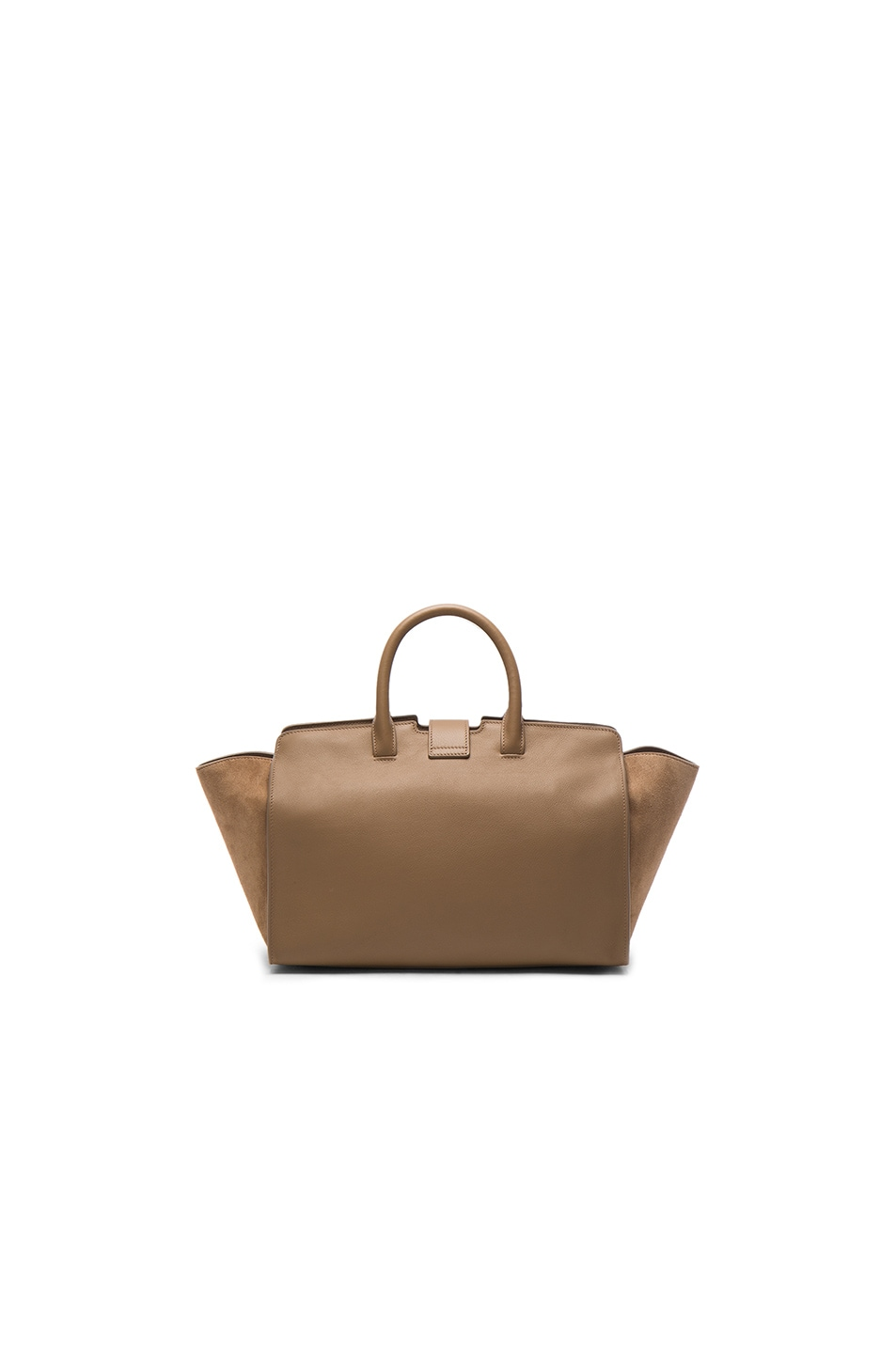 Image 2 of Saint Laurent Cabas Small Monogramme Bag in Taupe
