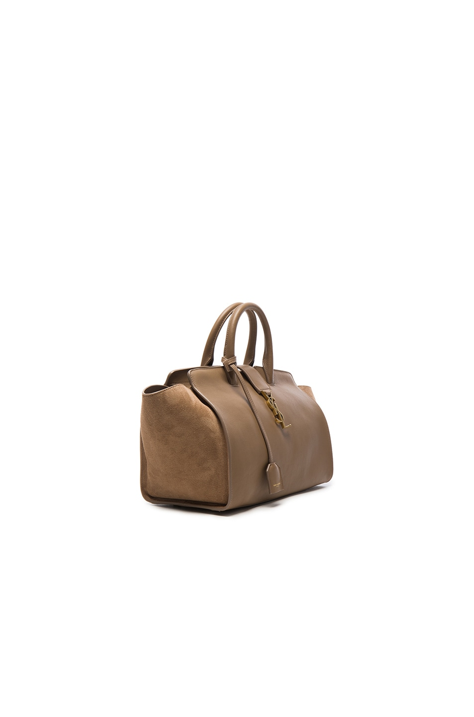 Image 3 of Saint Laurent Cabas Small Monogramme Bag in Taupe