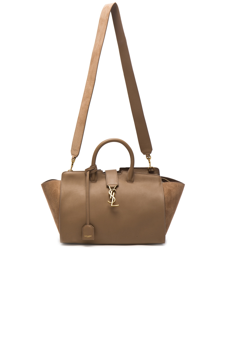 Image 5 of Saint Laurent Cabas Small Monogramme Bag in Taupe