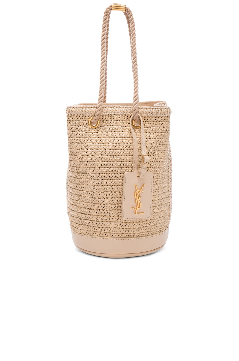 Image 1 of Saint Laurent Sea Small Rope Bucket Bag in Natural