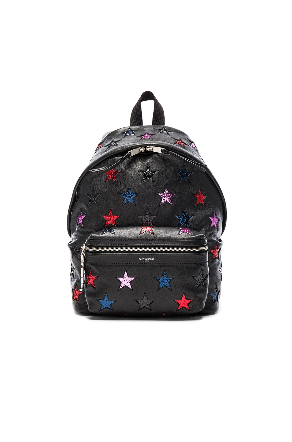 Image 1 of Saint Laurent City Mini Star Backpack in Black & Multi Color