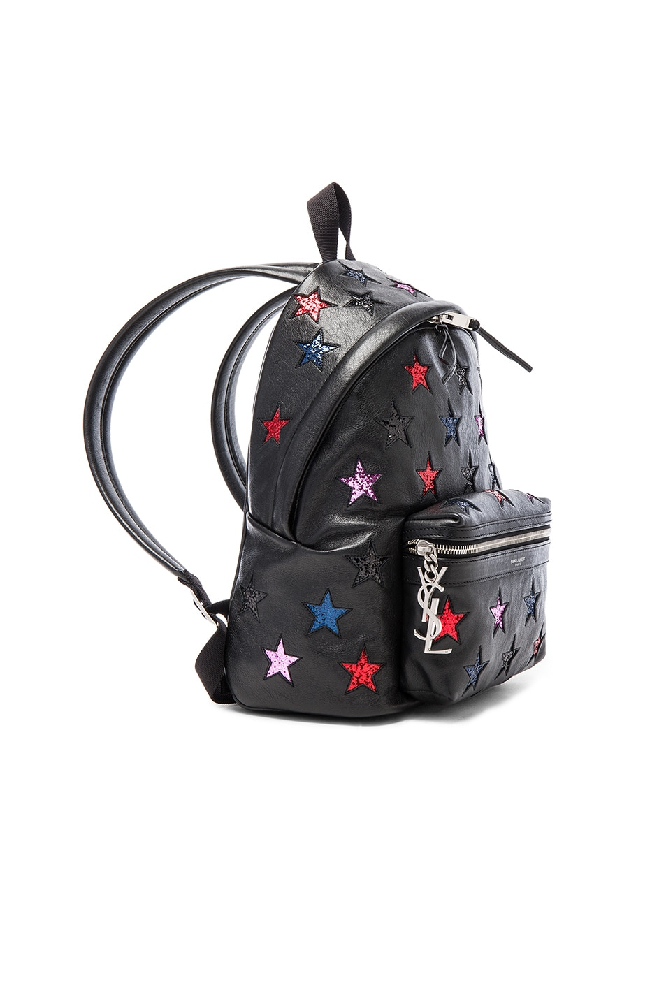 Image 3 of Saint Laurent City Mini Star Backpack in Black & Multi Color