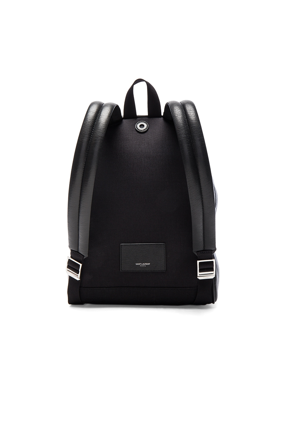 Image 2 of Saint Laurent City Mini Love Backpack in Black & Multi Color