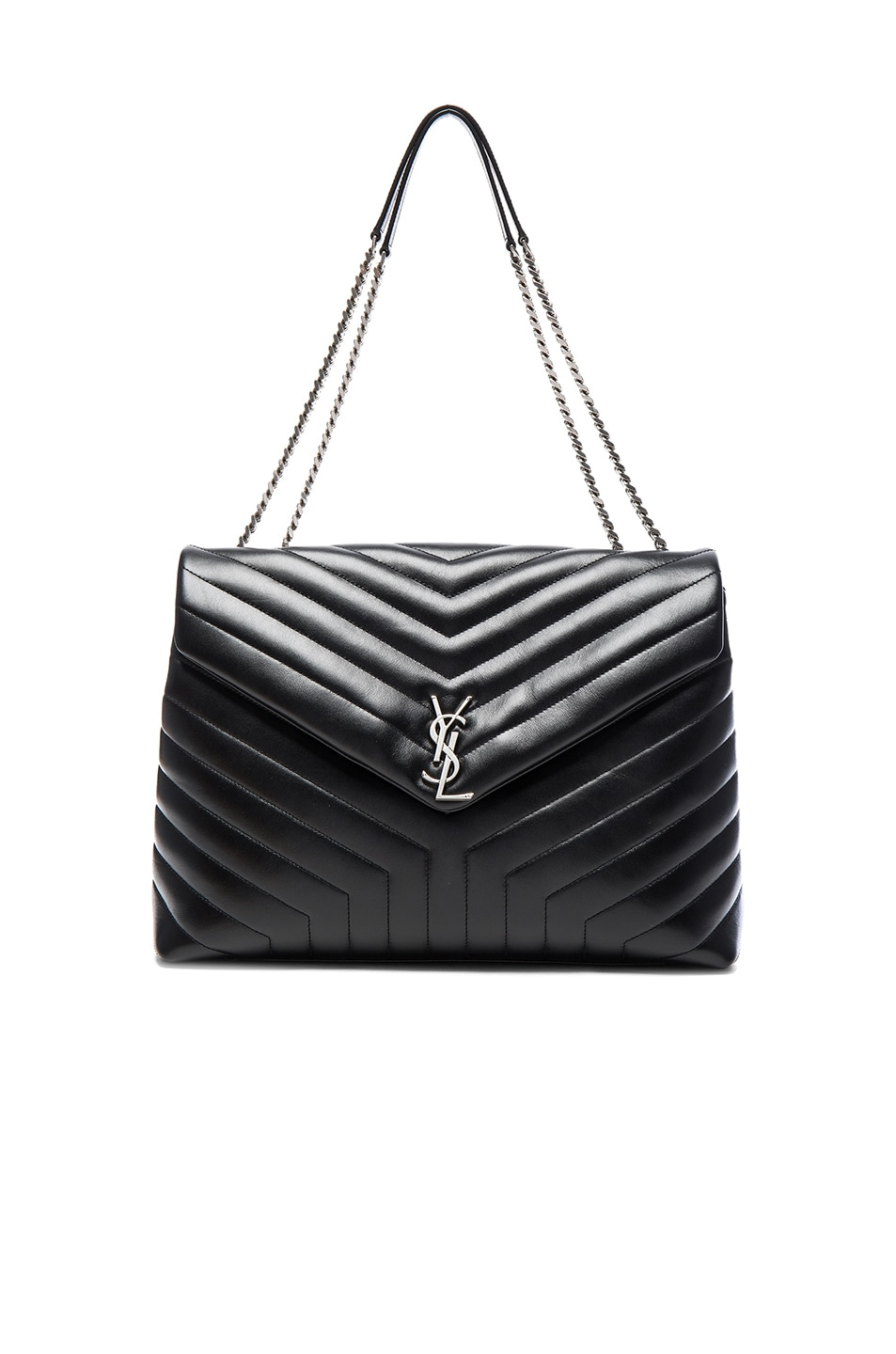 Image 1 of Saint Laurent Slouchy Large Monogramme Shoulder Bag in Black