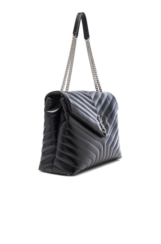 Image 3 of Saint Laurent Slouchy Large Monogramme Shoulder Bag in Black