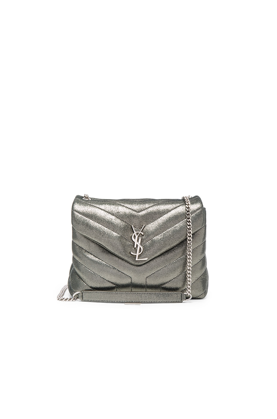 Image 1 of Saint Laurent Small Soft Monogramme Bag in Gunmetal