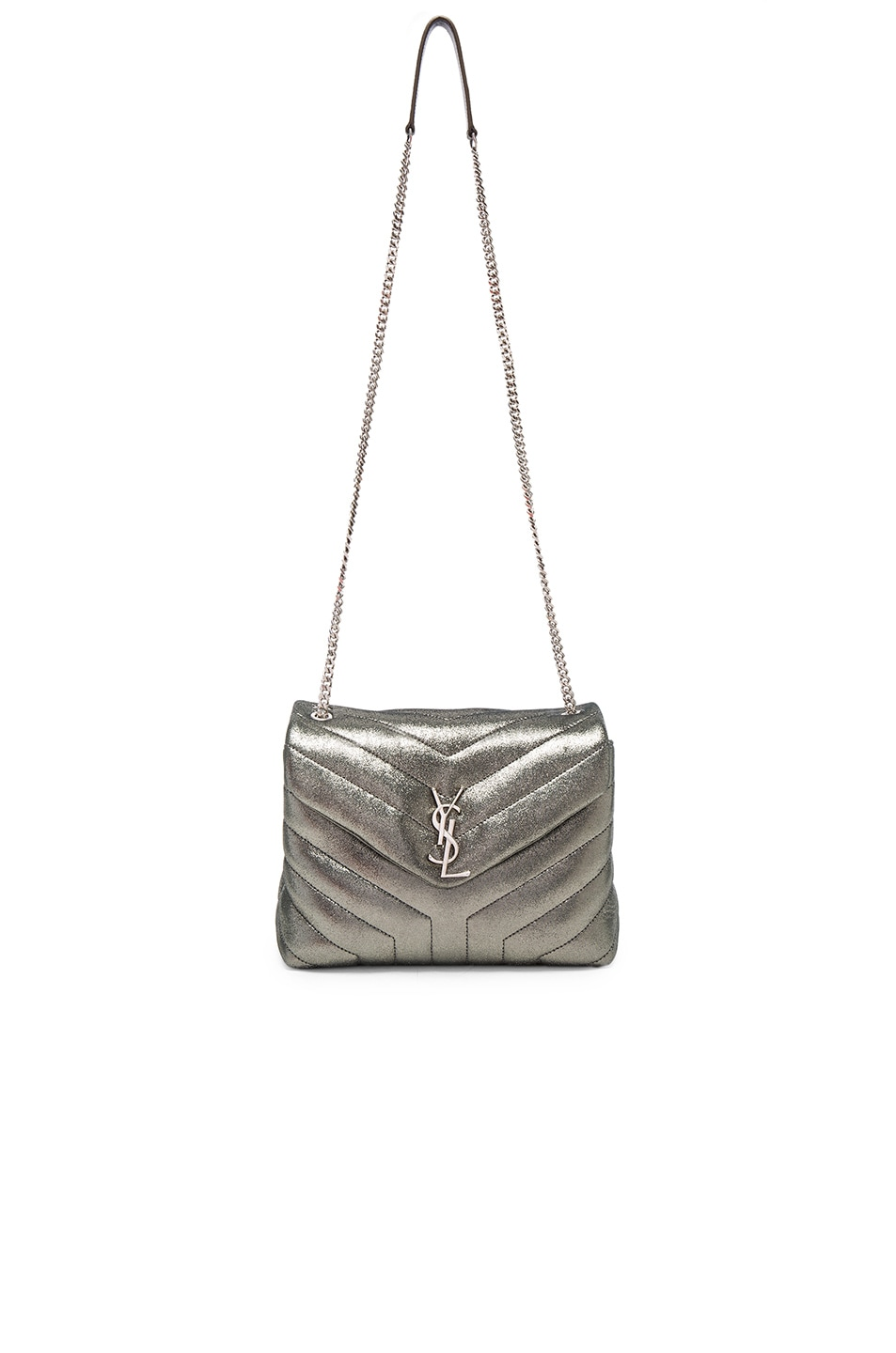 Image 5 of Saint Laurent Small Soft Monogramme Bag in Gunmetal