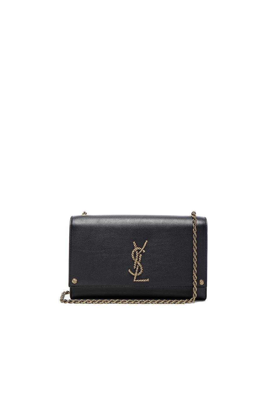 Image 1 of Saint Laurent Monogramme Kate Clutch in Black