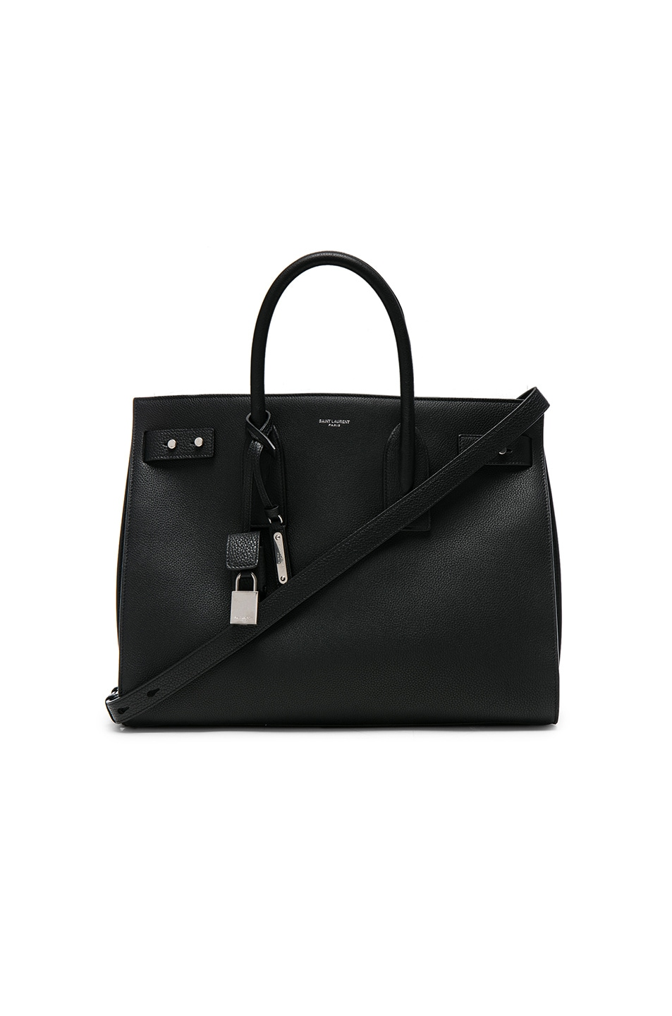 Image 1 of Saint Laurent Medium Supple Sac de Jour in Black