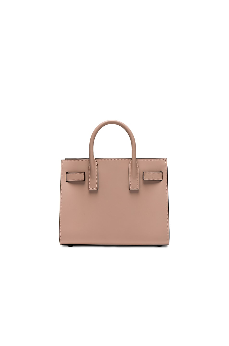 Image 2 of Saint Laurent Nano Double Face Leather in Nude Rose