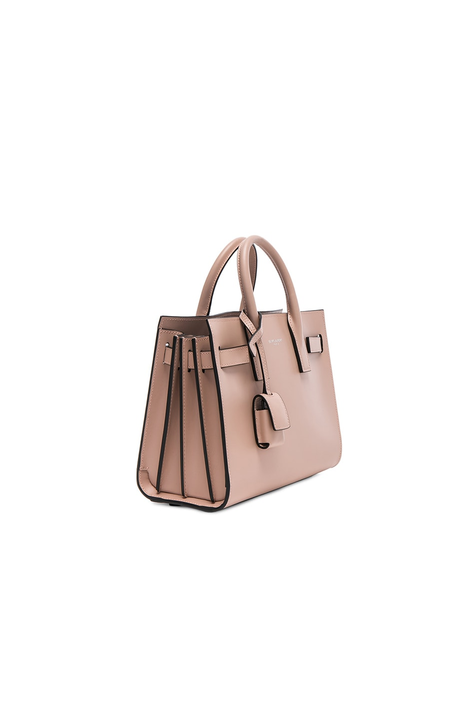 Image 3 of Saint Laurent Nano Double Face Leather in Nude Rose