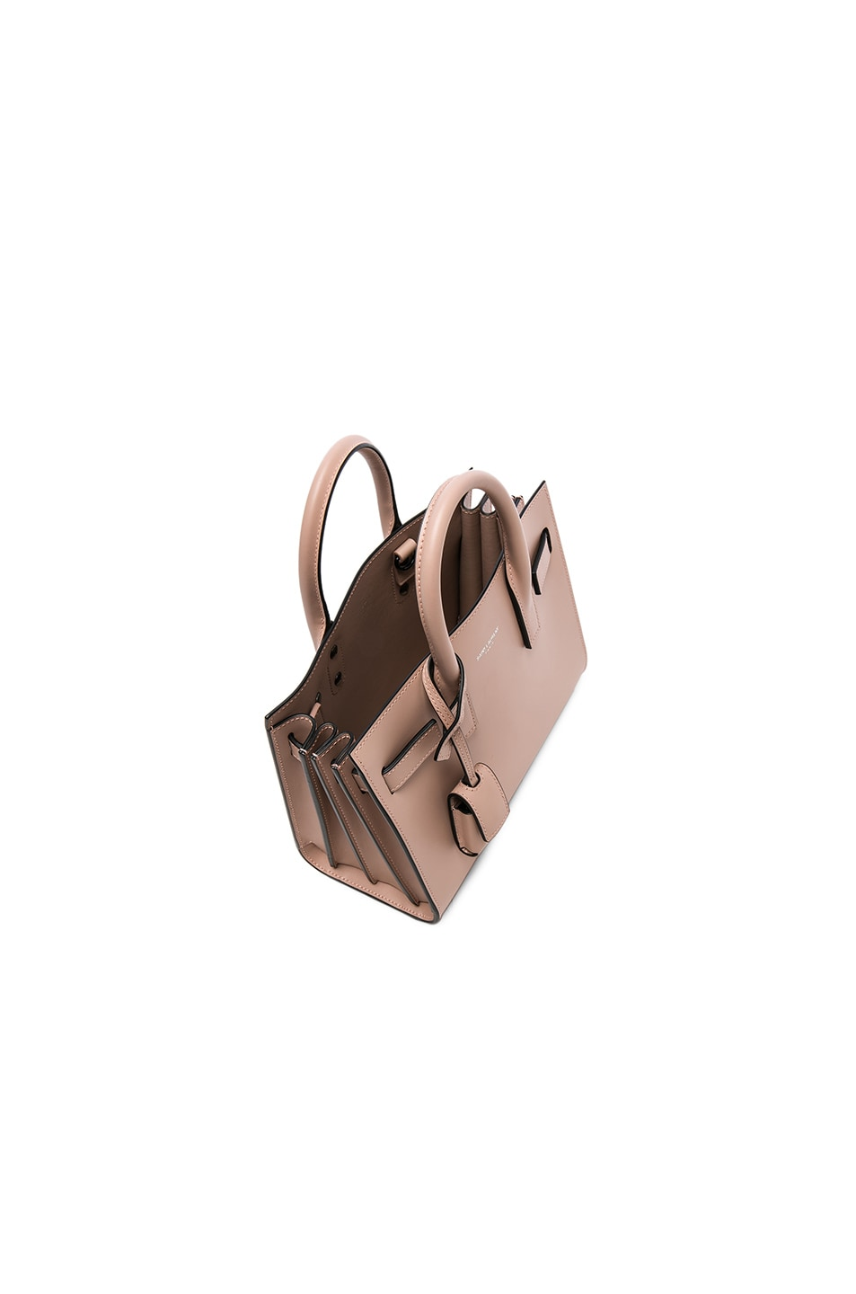 Image 4 of Saint Laurent Nano Double Face Leather in Nude Rose