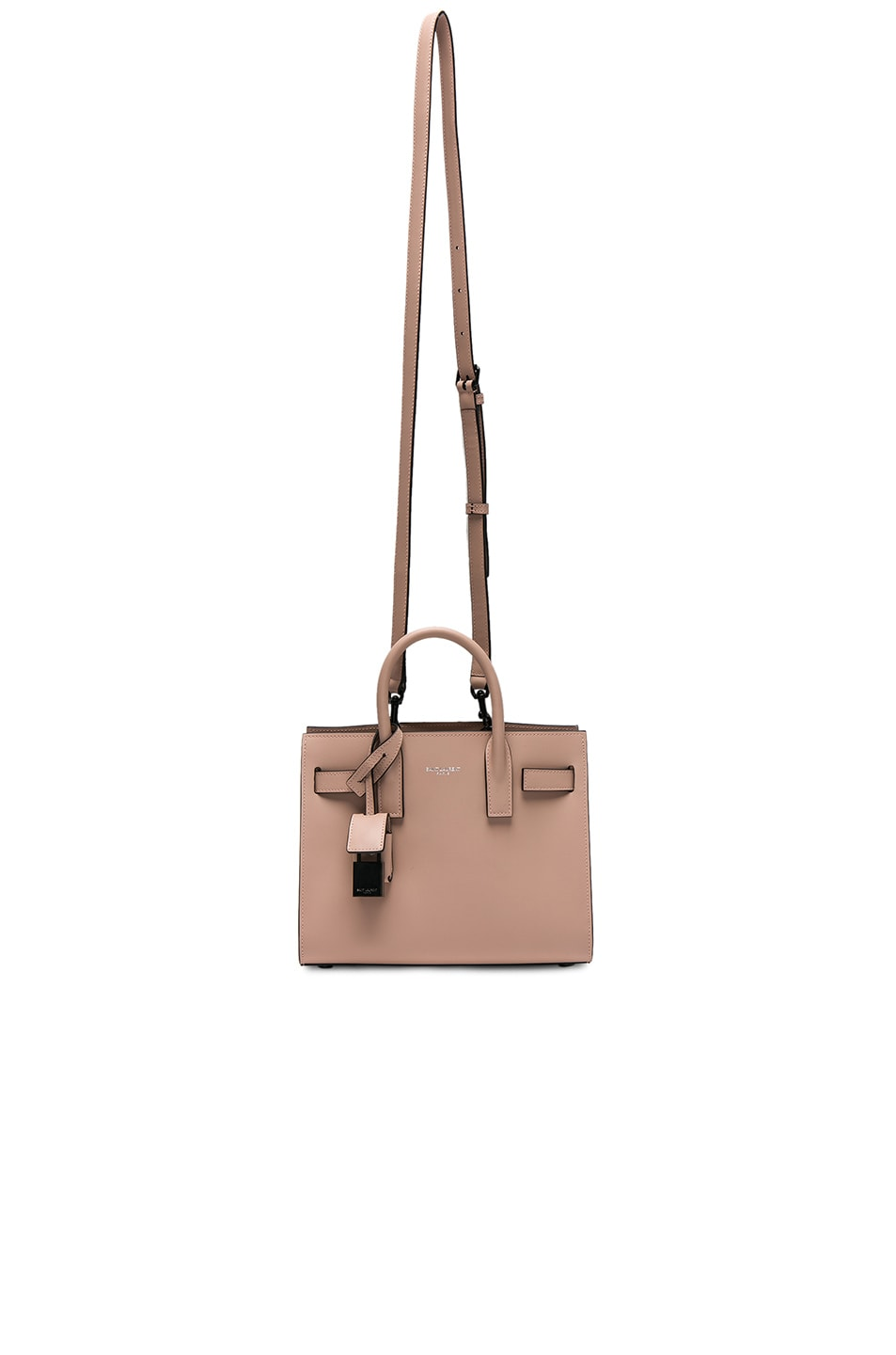 Image 5 of Saint Laurent Nano Double Face Leather in Nude Rose