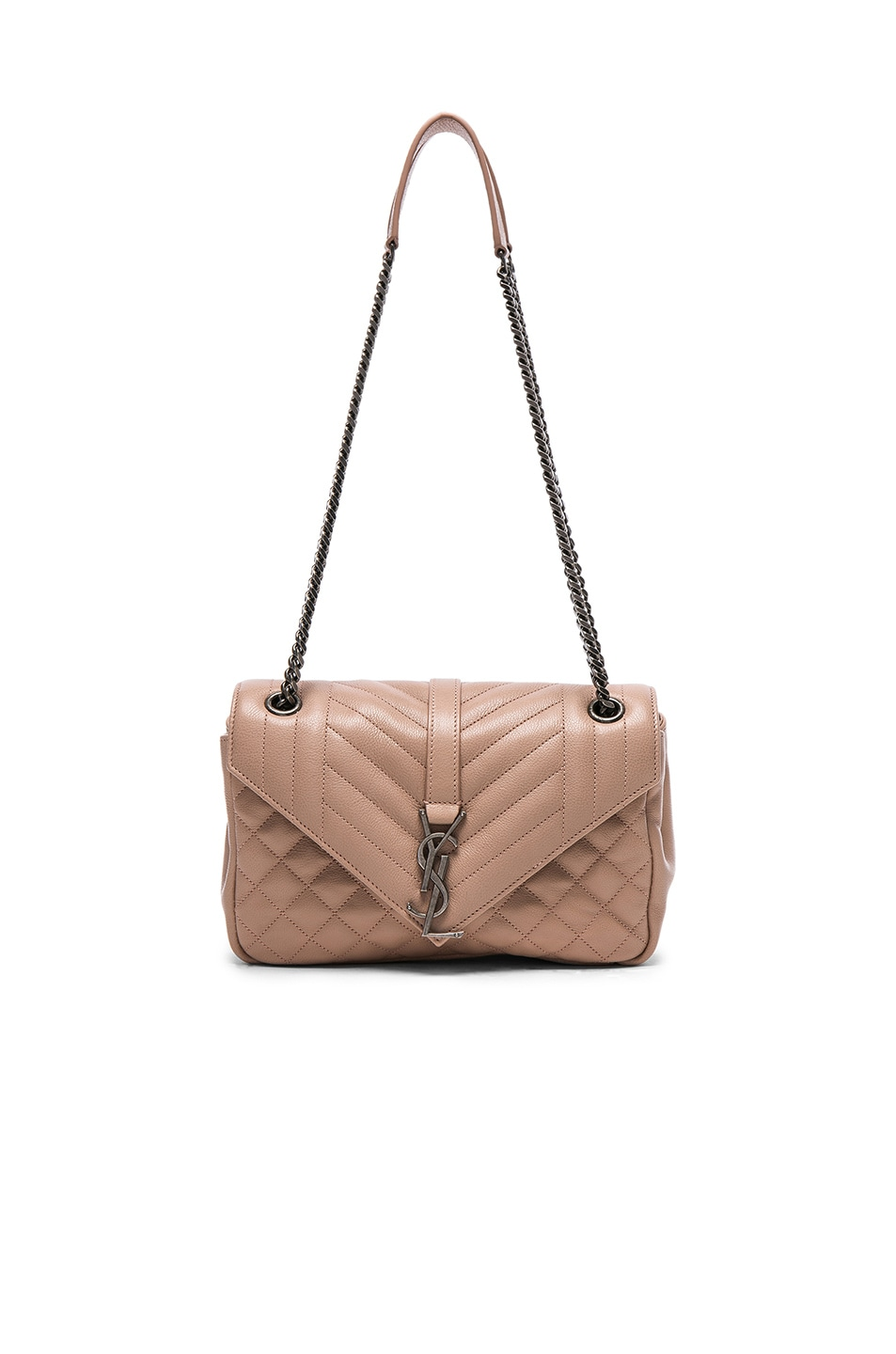 Image 1 of Saint Laurent Medium Envelope Chain Bag in Nude Pink
