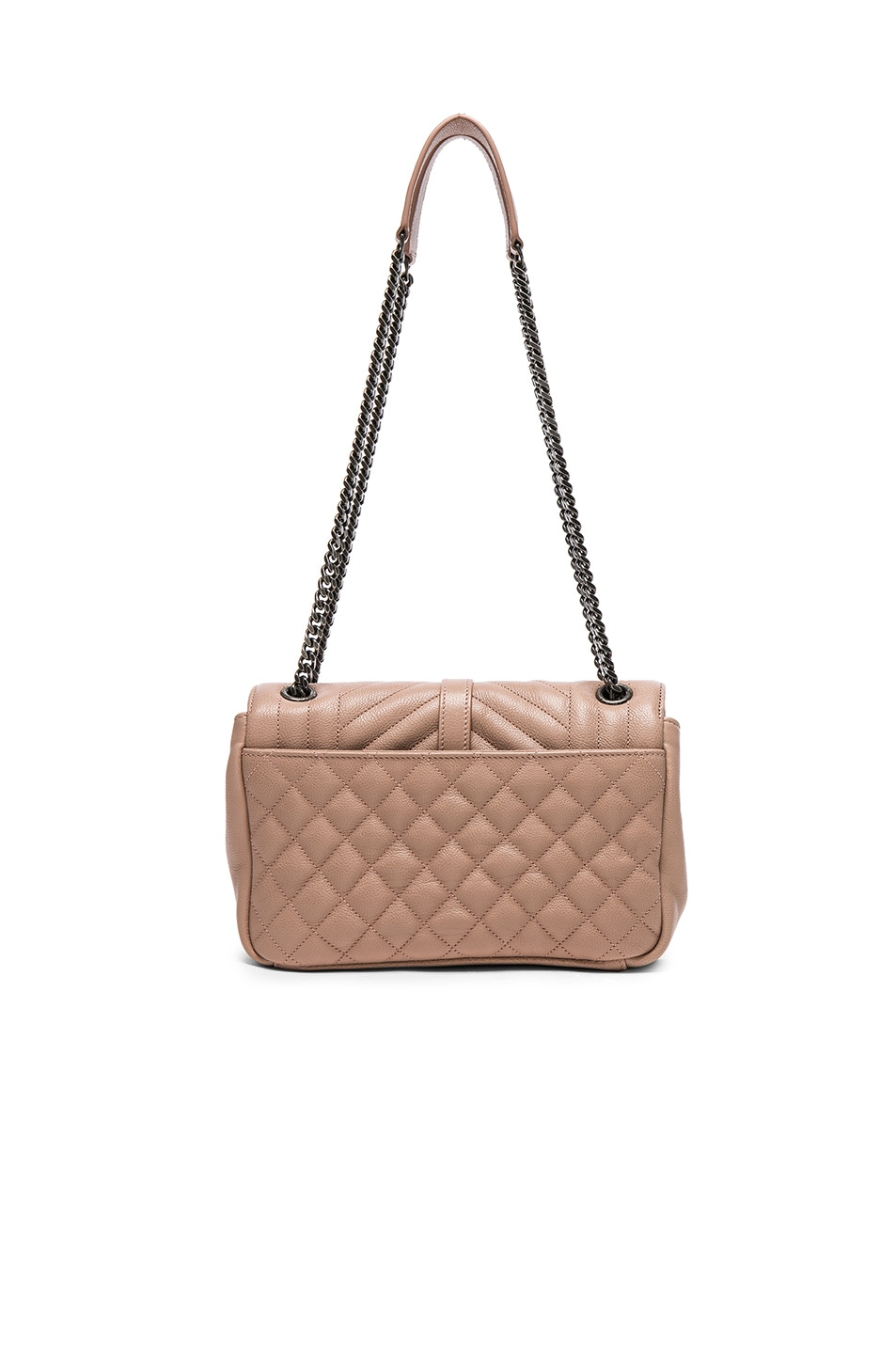 Image 2 of Saint Laurent Medium Envelope Chain Bag in Nude Pink