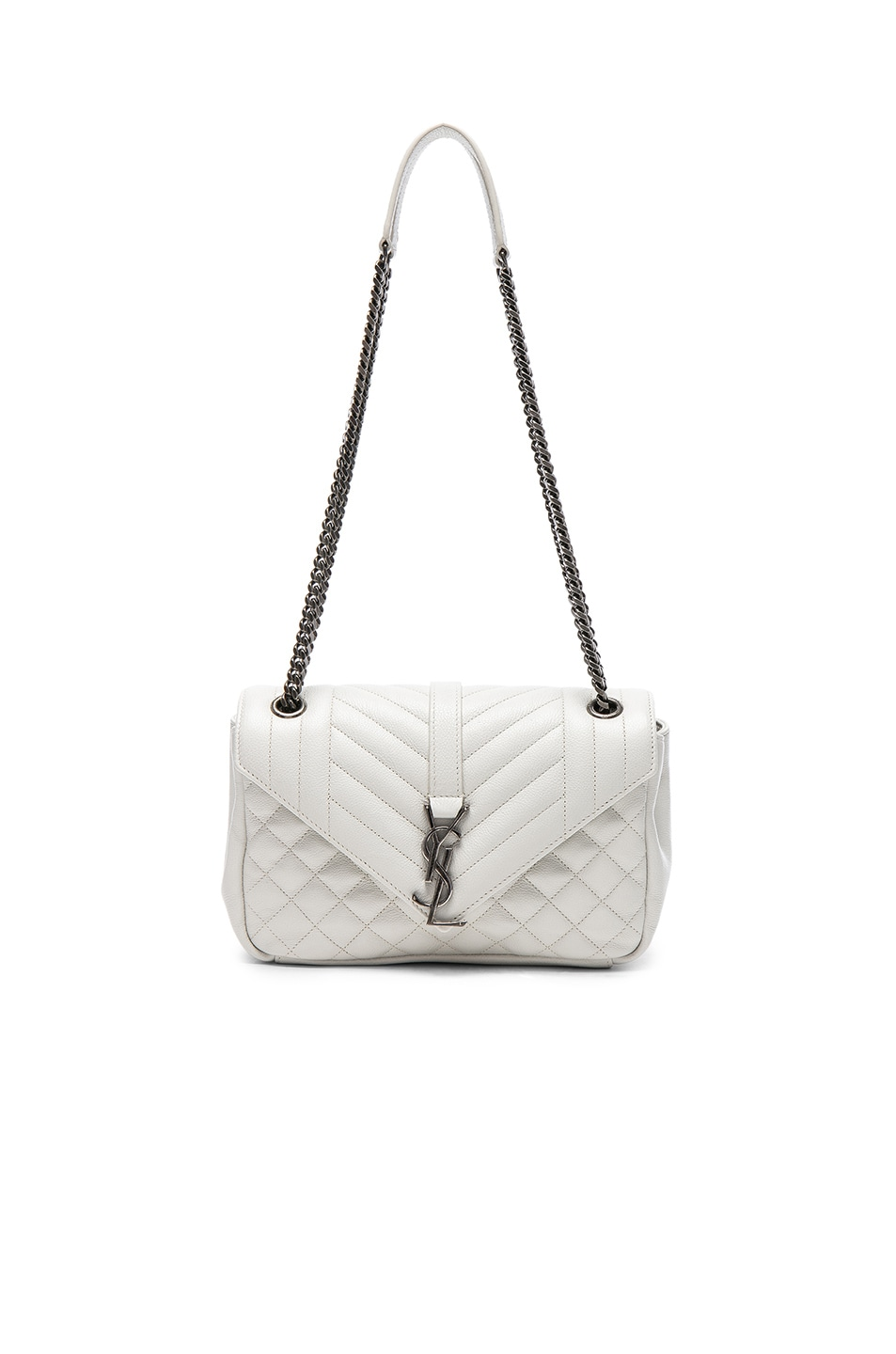 Image 1 of Saint Laurent Medium Envelope Chain Bag in White Chalk