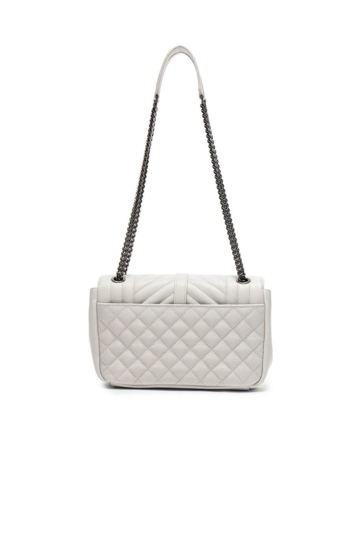 Image 2 of Saint Laurent Medium Envelope Chain Bag in White Chalk
