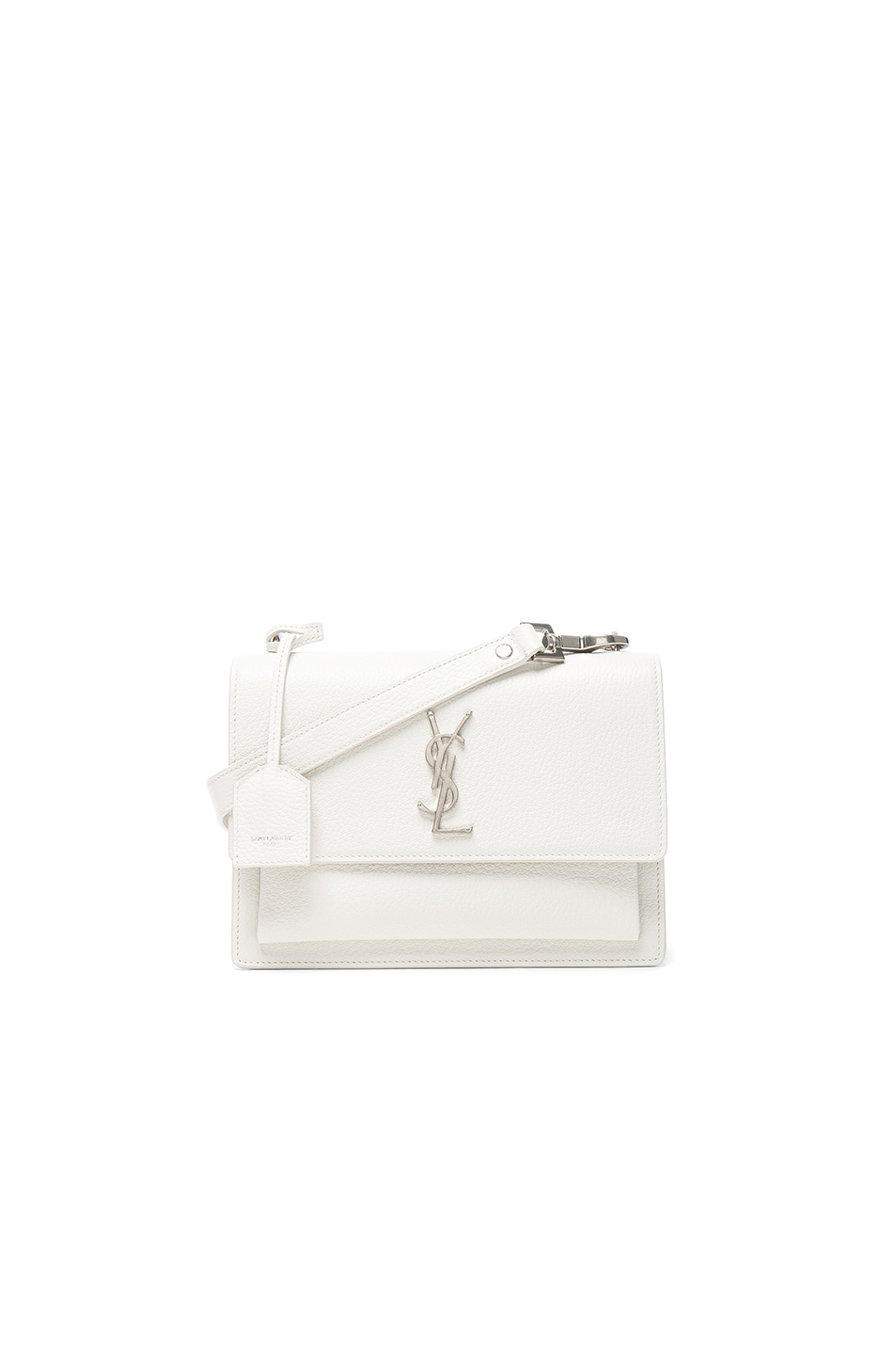 Image 1 of Saint Laurent Medium Monogramme Sunset Satchel in White Chalk