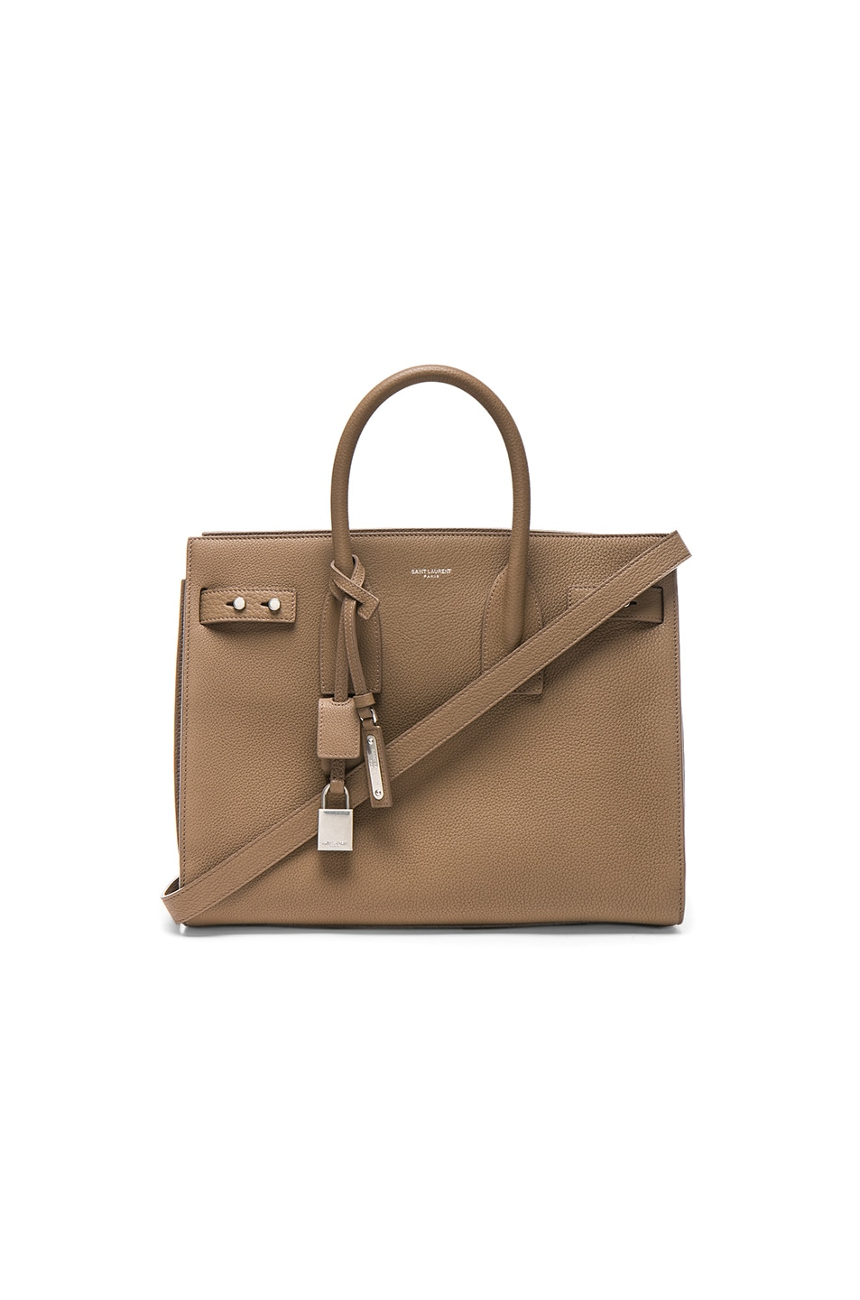 Image 1 of Saint Laurent Small Supple Sac de Jour in Taupe