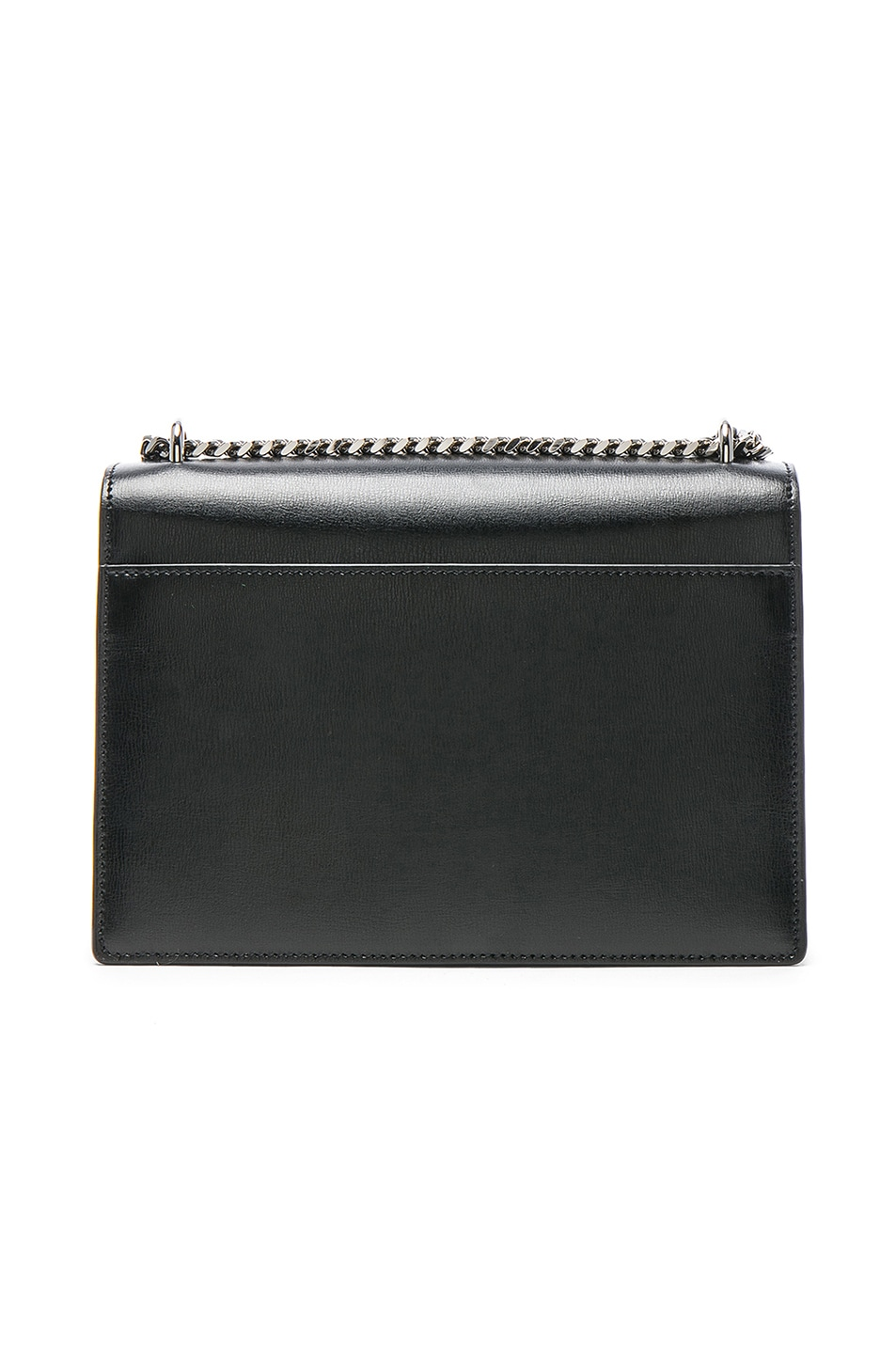 Image 3 of Saint Laurent Medium Monogramme Sunset Chain Bag in Black