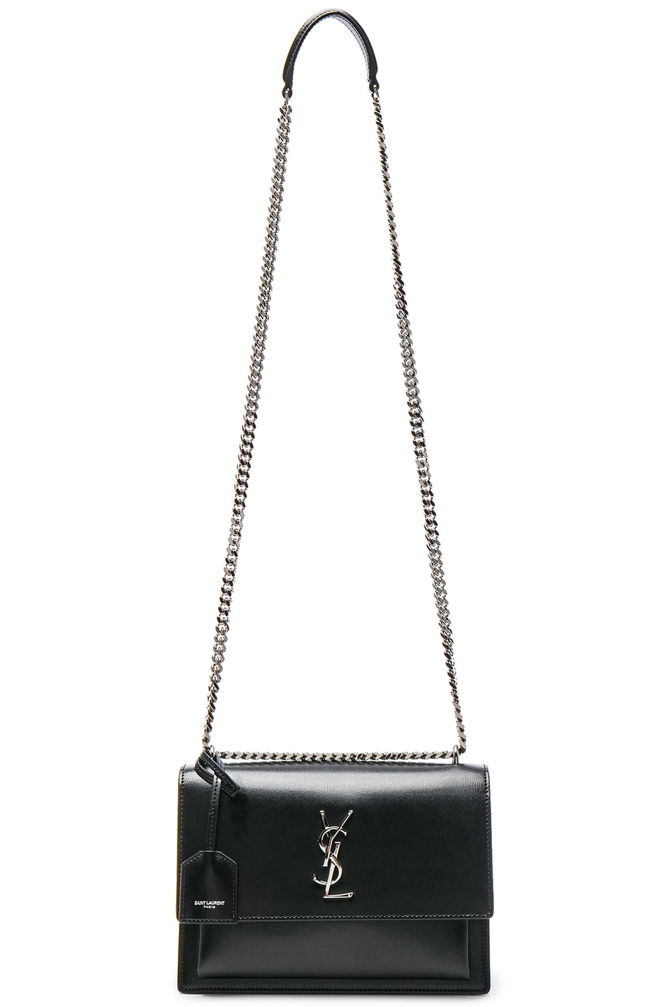 Image 6 of Saint Laurent Medium Monogramme Sunset Chain Bag in Black