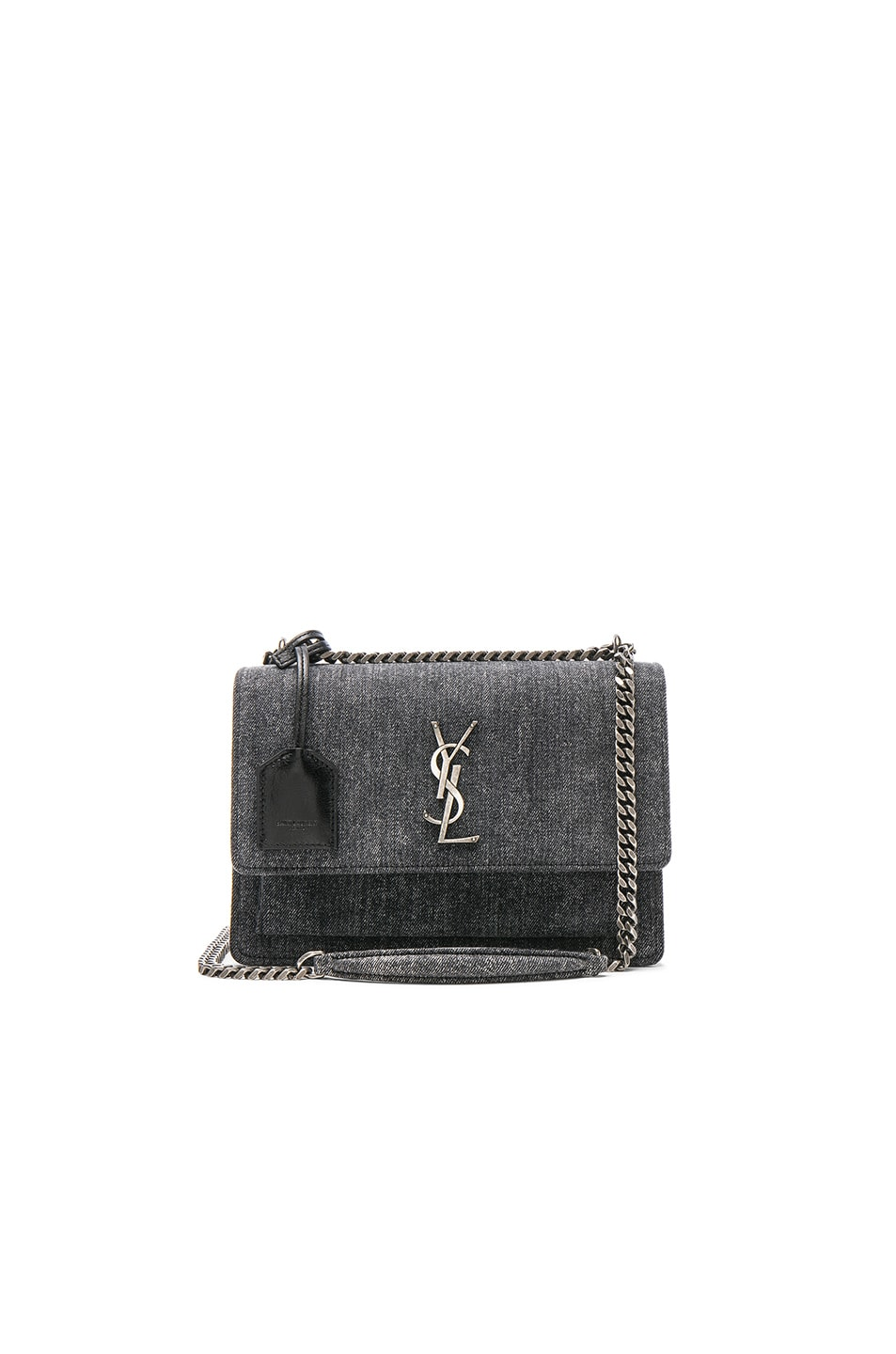 Image 1 of Saint Laurent Medium Monogramme Sunset Chain Bag in Denim