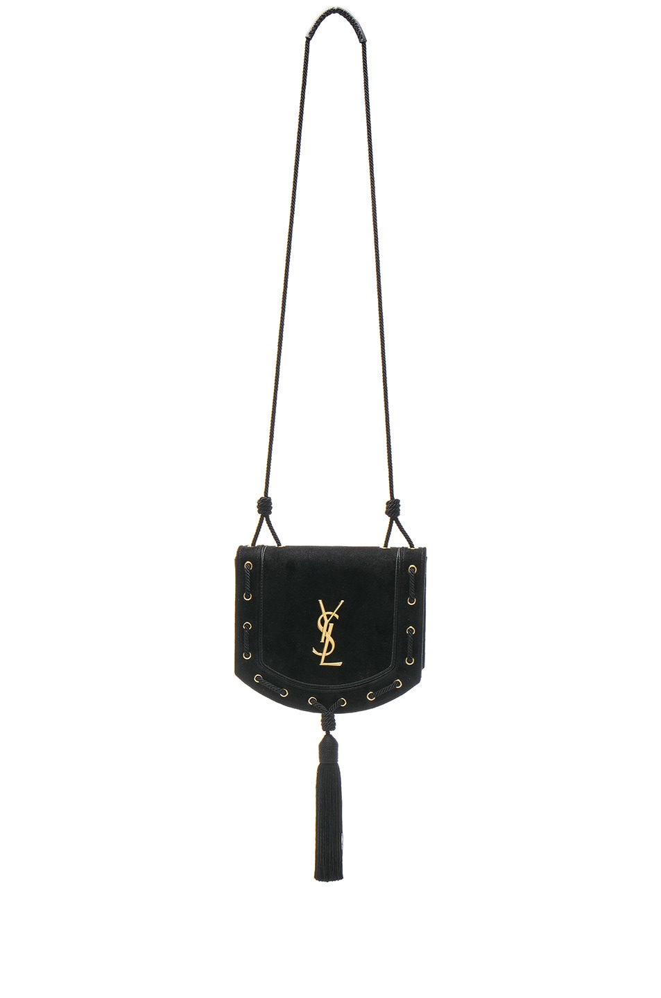Image 1 of Saint Laurent Medium Monogramme Fetish Satchel in Black