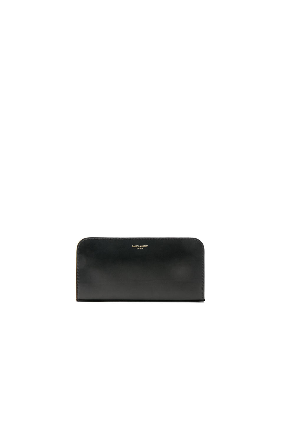 Image 1 of Saint Laurent Paris Zip Around Wallet in Black