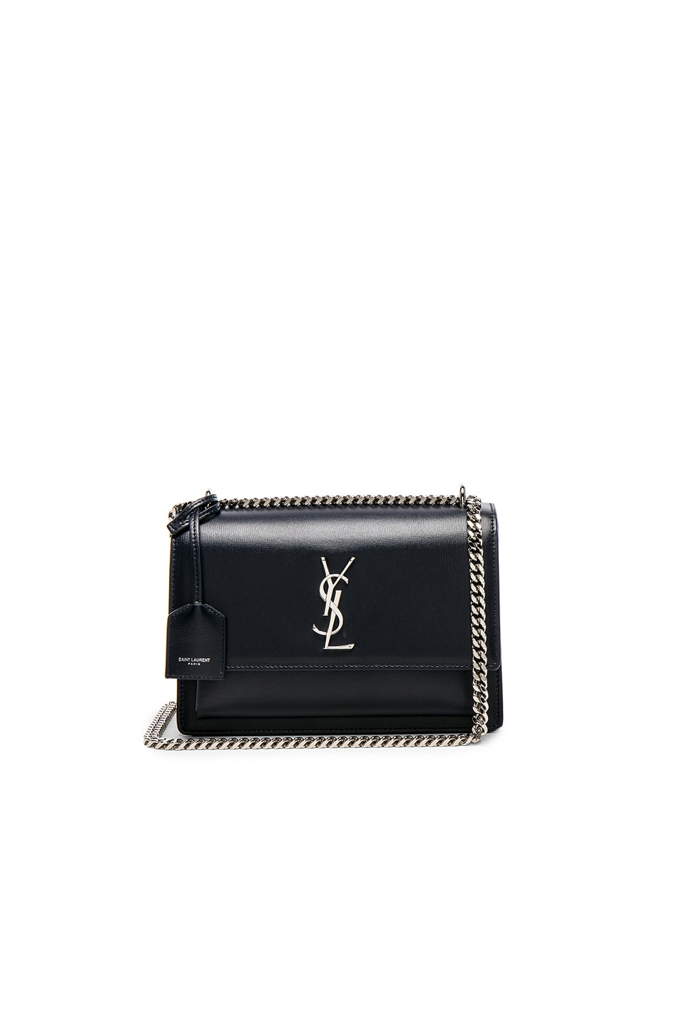 Image 1 of Saint Laurent Medium Monogramme Sunset Chain Bag in Deep Marine 1a7090824795e