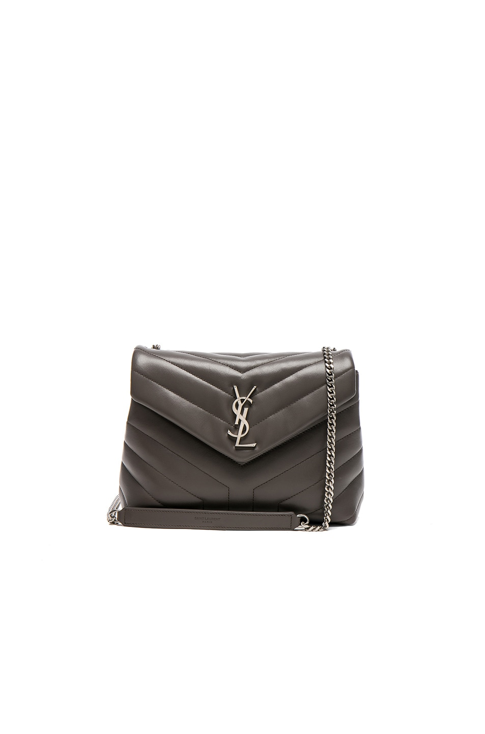 Image 1 of Saint Laurent Small Supple Monogramme Loulou Chain Bag in Earth