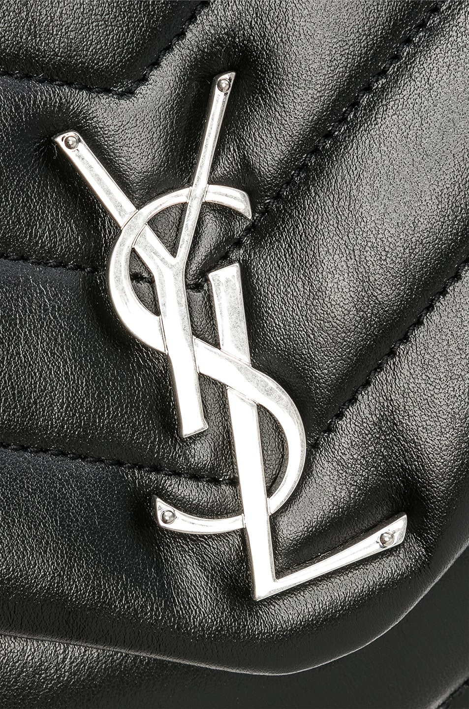 Image 7 of Saint Laurent Medium Supple Monogramme Loulou Chain Bag in Black