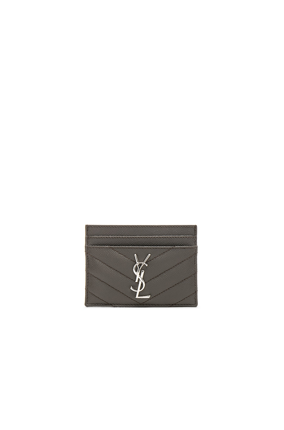 Image 1 of Saint Laurent Monogramme Credit Card Case in Earth