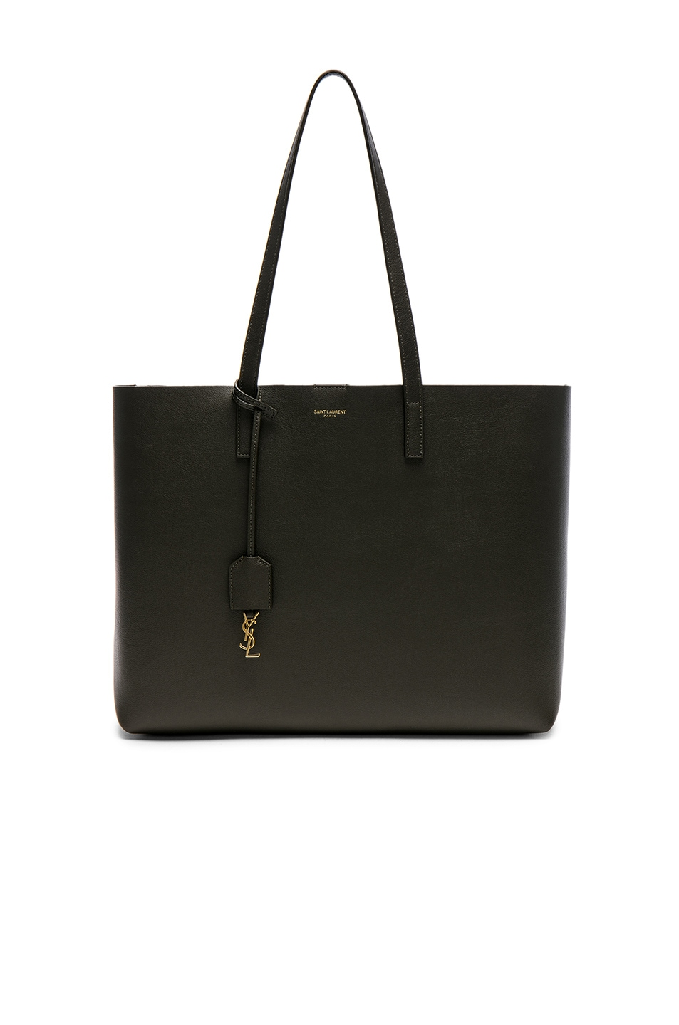 Image 1 of Saint Laurent Large East West Shopping Bag in Army Green