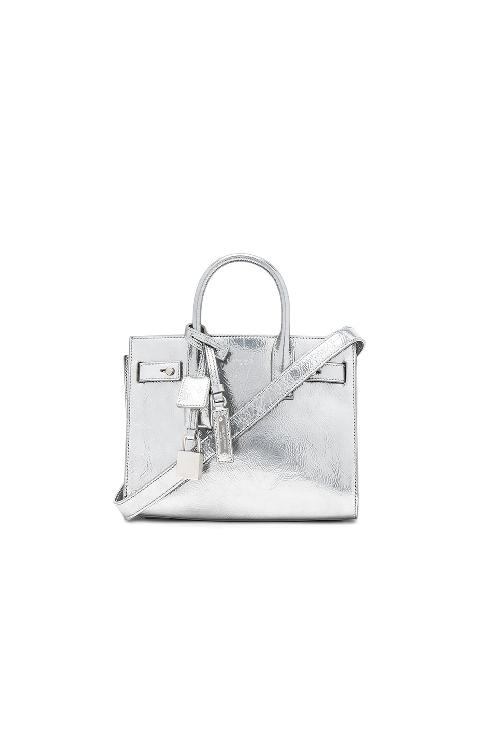 Image 1 of Saint Laurent Nano Metallic Supple Sac de Jour in Silver
