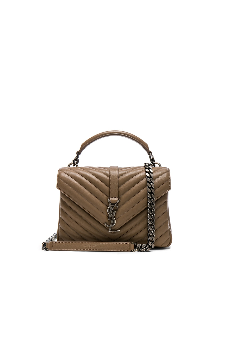 Image 1 of Saint Laurent Medium Monogramme College Bag in Taupe