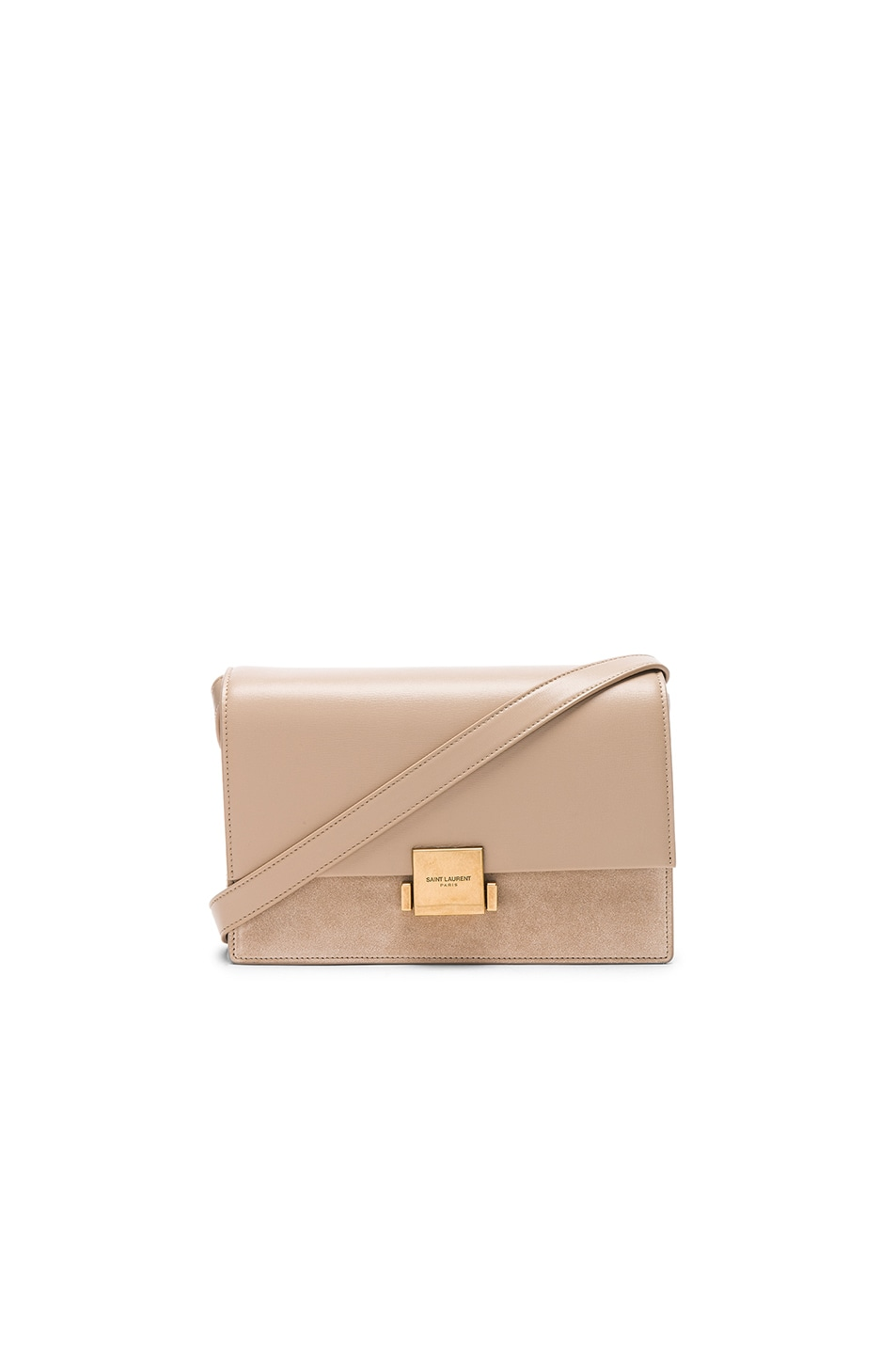 Image 1 of Saint Laurent Medium Bellechasse Satchel in Dark Beige