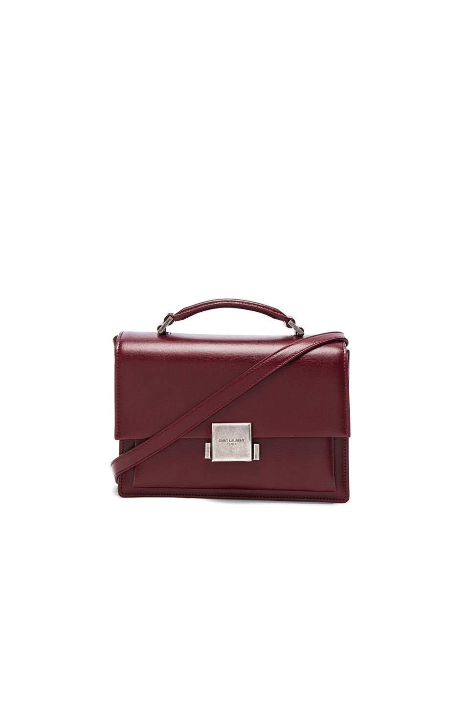 Image 1 of Saint Laurent Medium Bellechasse Schoolbag in Palissandre