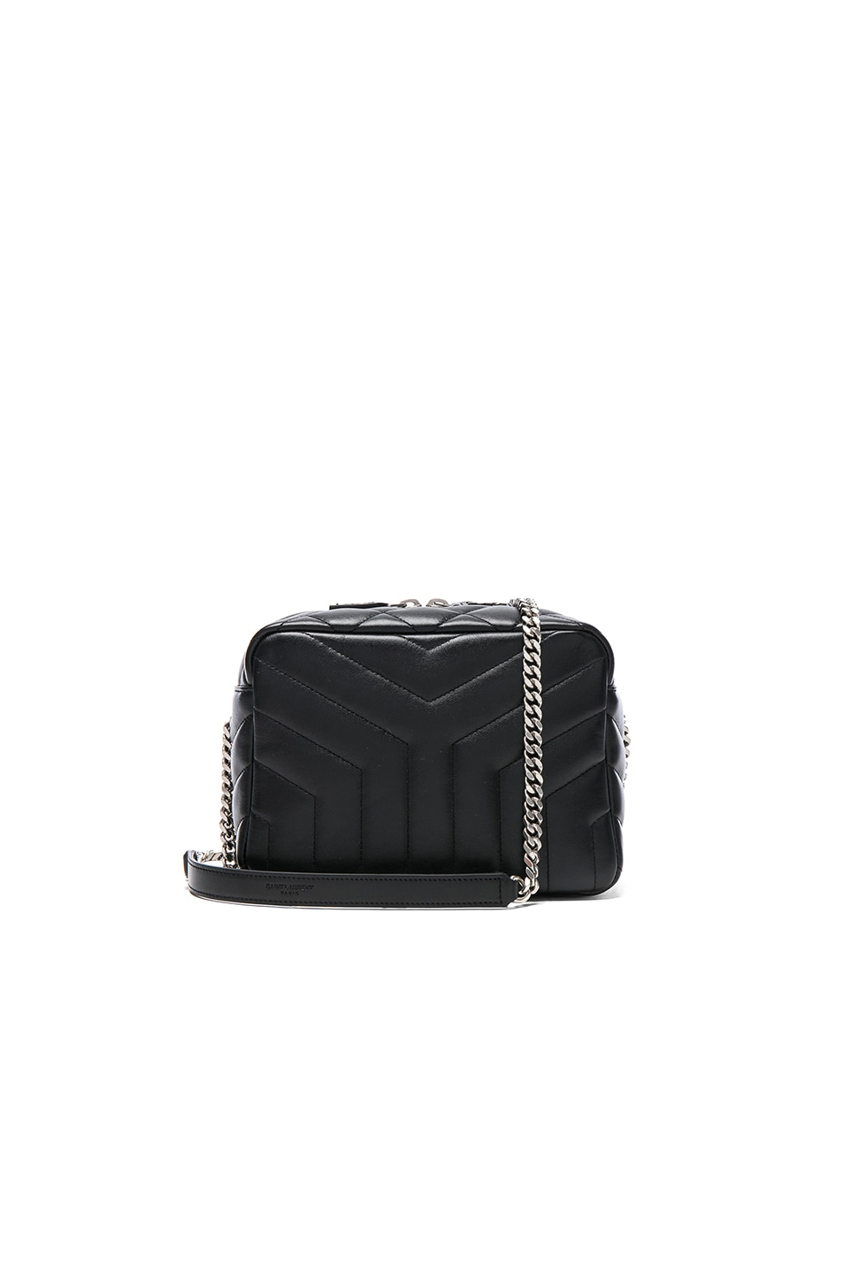 Image 1 of Saint Laurent Small Loulou Top Handle Bowling Bag in Black