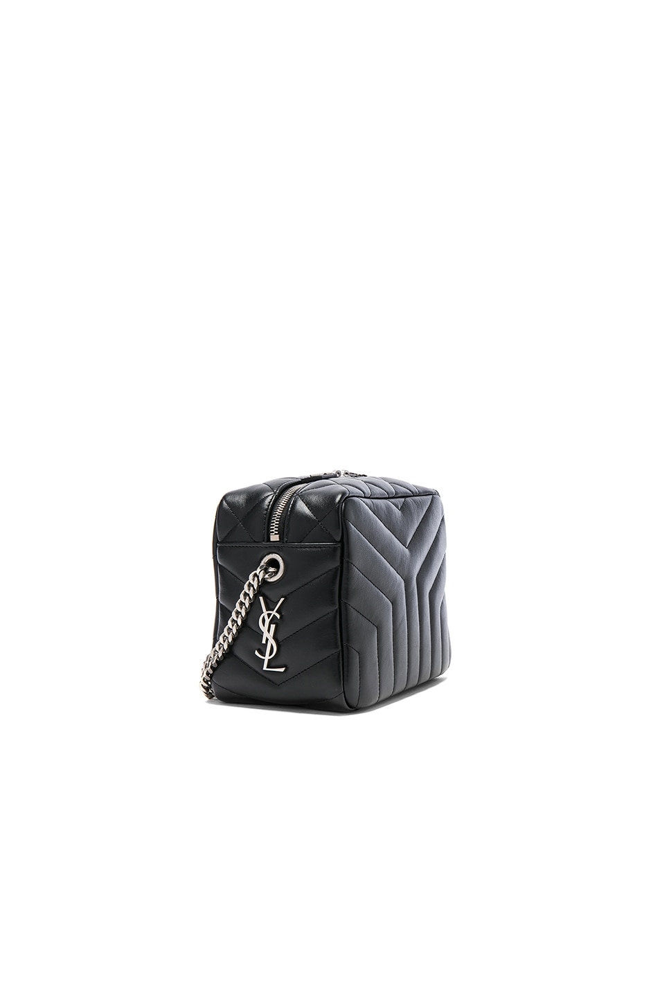 Image 3 of Saint Laurent Small Loulou Top Handle Bowling Bag in Black