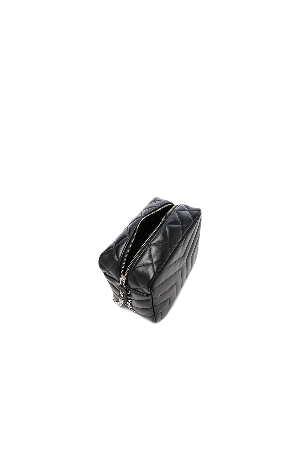 Image 4 of Saint Laurent Small Loulou Top Handle Bowling Bag in Black