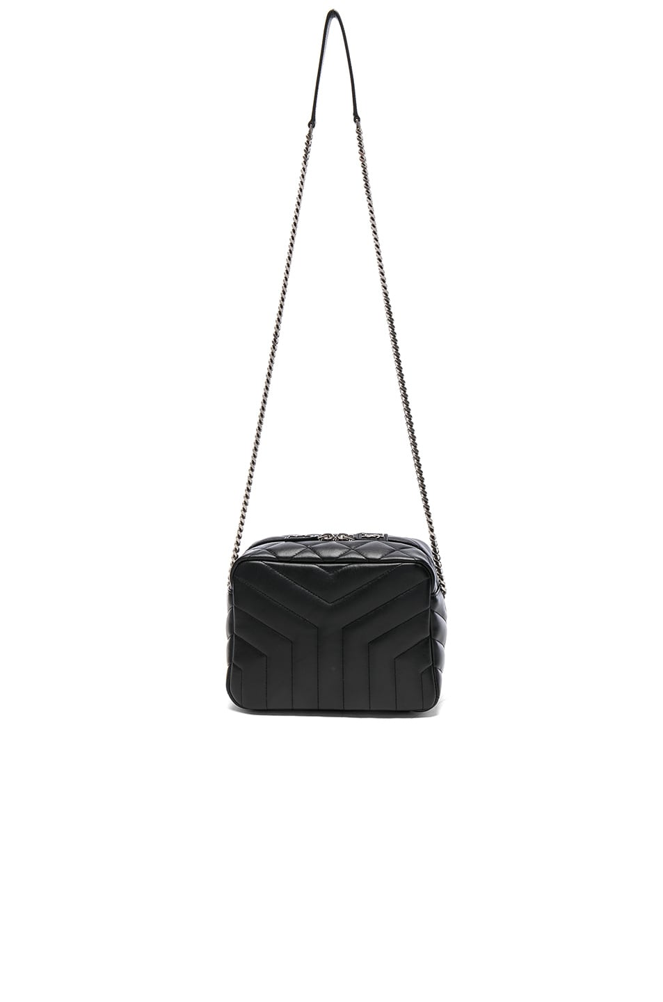 Image 5 of Saint Laurent Small Loulou Top Handle Bowling Bag in Black