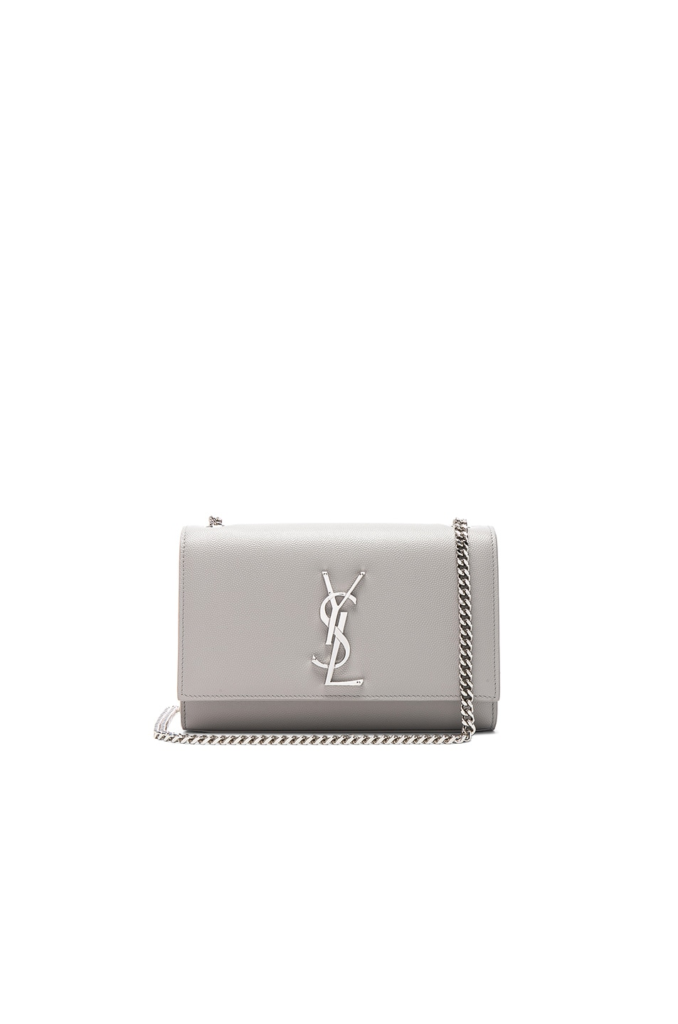 46dc2251f0 Image 1 of Saint Laurent Small Monogramme Kate Chain Bag in Light Grey