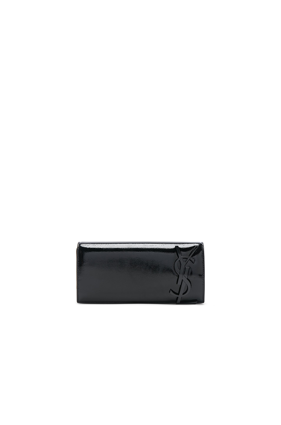 Image 1 of Saint Laurent Patent Smoking Clutch in Black