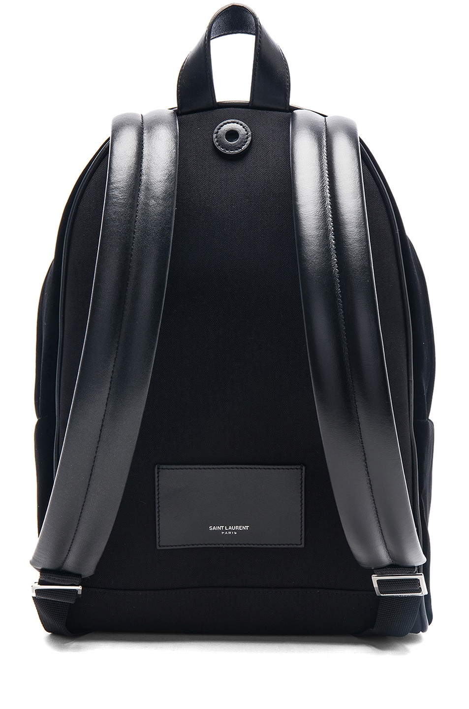 Image 3 of Saint Laurent Mini Velvet City Backpack in Black