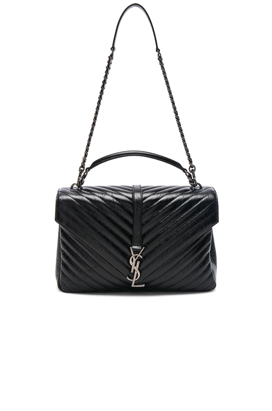 aca1b698576b Image 5 of Saint Laurent Large Vintage Monogramme College Bag in Black