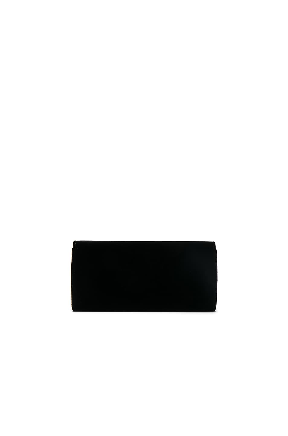 Image 2 of Saint Laurent Velvet Smoking Clutch in Black