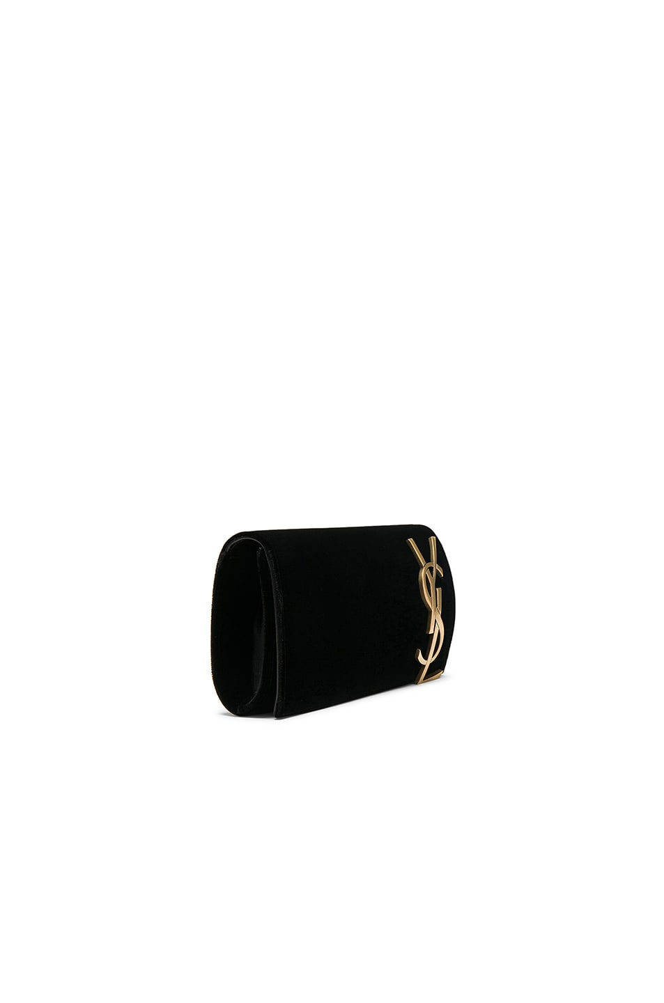 Image 3 of Saint Laurent Velvet Smoking Clutch in Black