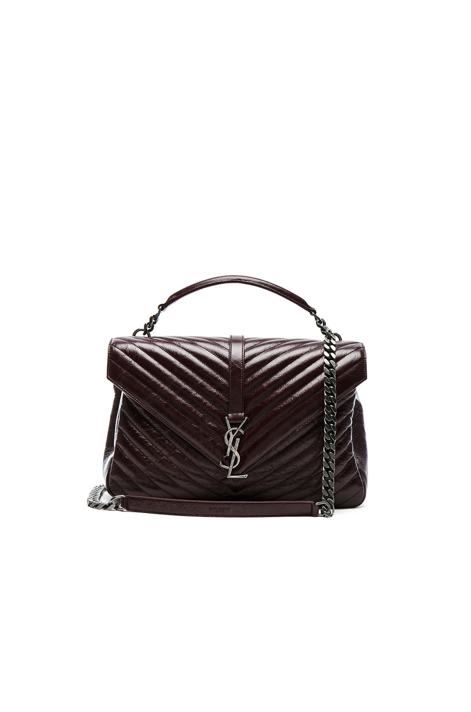 f3245437456b Image 1 of Saint Laurent Large Vintage Monogramme College Bag in Bordeaux