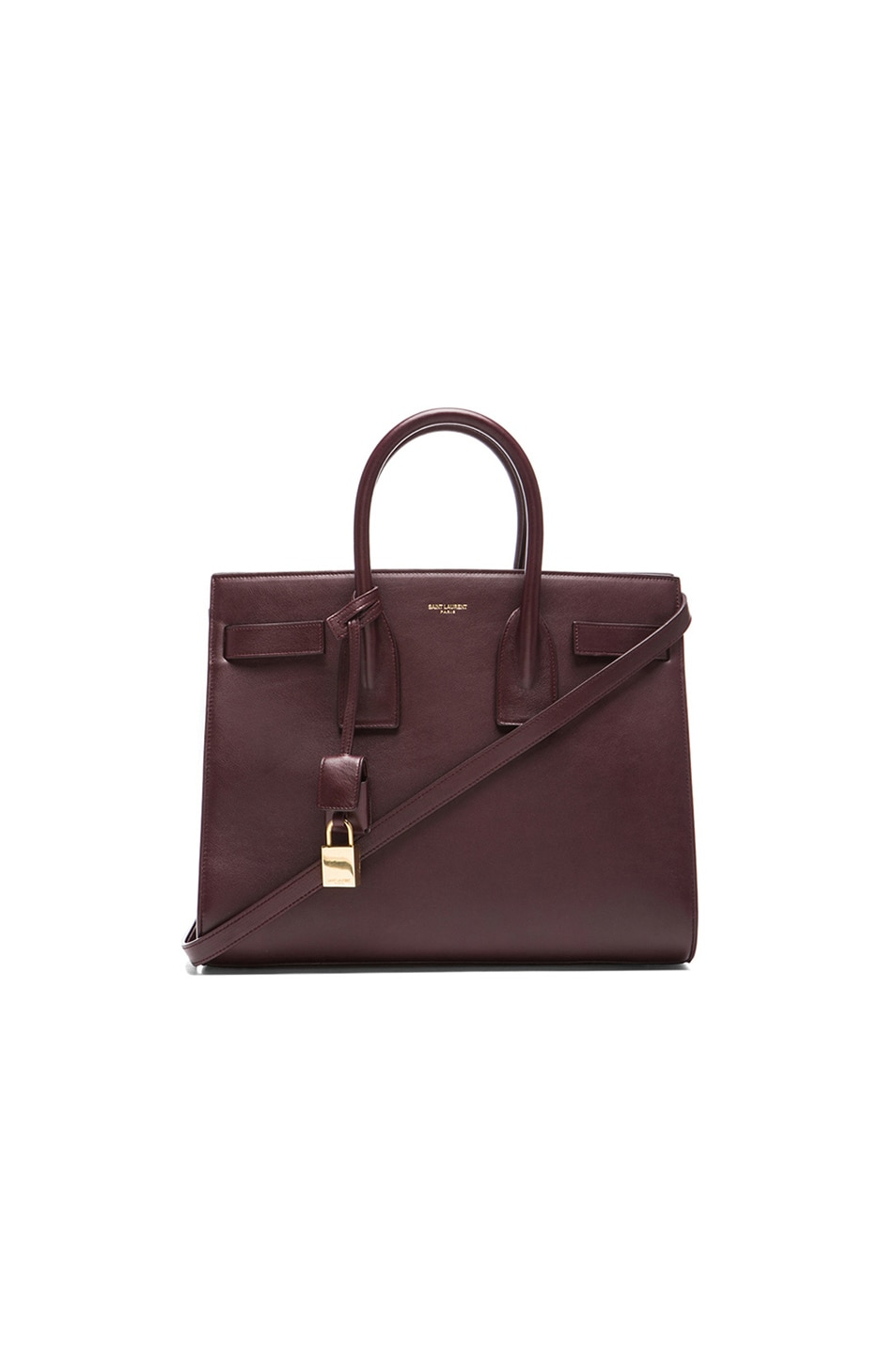 b1b84d1e35a3 Image 1 of Saint Laurent Small Sac De Jour Carryall Bag in Bordeaux